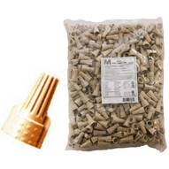 Morris Products 23185 Twisted Wing Connectors Tan Bagged 500 Bulk Pack (500 Piece Pack)-1