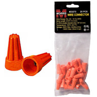 Morris Products 23273 Screw-on Wire Connectors P3 Orange Hanging Bag 25 Pack (25 Piece Pack)-1