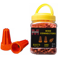 Morris Products 23373 Screw-on Wire Connectors P3 Orange Small Jar-1