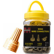 Morris Products 23385 Twisted Wing Connectors Tan Small Jar-1