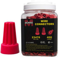 Morris Products 23476 Screw-on Wire Connectors P6 Red Large Jar-1