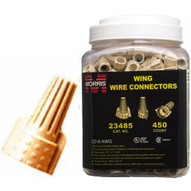 Morris Products 23485 Twisted Wing Connectors Tan Large Jar-1