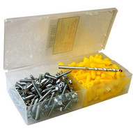 Morris Products 31034 Super Yellow Anchor Kits Hex Head 10 X 1-1 4-1