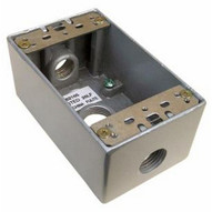Morris Products 36000 Weatherproof Boxes - One Gang 18 Cubic Inch Capacity - 3 Outlet Holes 1 2 Gray No Lugs-1