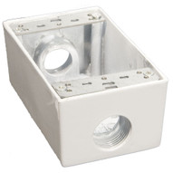 Morris Products 36022 Weatherproof Boxes - One Gang 18 Cubic Inch Capacity - 3 Outlet Holes 3 4 White-1
