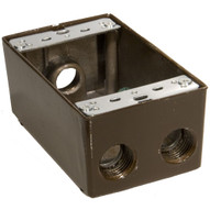 Morris Products 36034 Weatherproof Boxes - One Gang 18 Cubic Inch Capacity - 4 Outlet Holes 1 2 Bronze-1