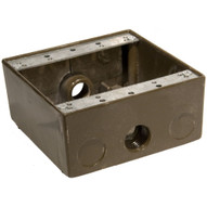 Morris Products 36214 Weatherproof Boxes - Two Gang 30.5 Cubic Inch Capacity - 3 Outlet Holes 1 2 Bronze-1