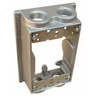 Morris Products 36520 Weatherproof One Gang Flanged Box Extension Adapter - 4 Outlet Holes 1 2 Gray-1