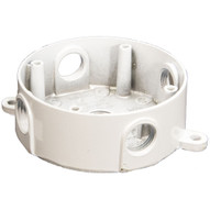 Morris Products 36612 4 Round Weatherproof Boxes - Five Holes 1 2 White-1