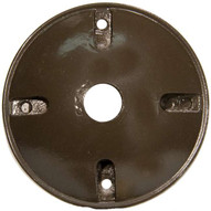 Morris Products 36814 4 Round Weatherproof Covers - One Hole 1 2 Bronze-1