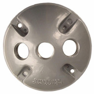 Morris Products 36830 4 Round Weatherproof Covers - Three Hole 1 2 Gray-1