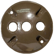 Morris Products 36834 4 Round Weatherproof Covers - Three Hole 1 2 Bronze-1