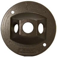 Morris Products 36844 4 Round Weatherproof Covers - Three Hole 1 2 Bronze-1