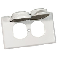 Morris Products 37012 One Gang Weatherproof Covers - Horizontal Duplex Receptacle White-1