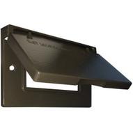 Morris Products 37024 One Gang Weatherproof Covers - Horizontal Gfci decorator Bronze-1