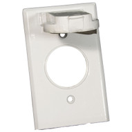Morris Products 37112 One Gang Weatherproof Covers - Vertical Single Receptacle White-1