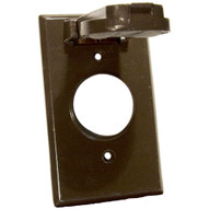 Morris Products 37114 One Gang Weatherproof Covers - Vertical Single Receptacle Bronze-1