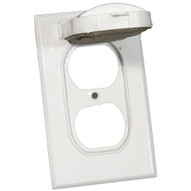Morris Products 37122 One Gang Weatherproof Covers - Vertical Duplex Receptacle White-1