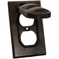 Morris Products 37124 One Gang Weatherproof Covers - Vertical Duplex Receptacle Bronze-1