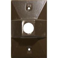 Morris Products 37314 One Gang Weatherproof Covers - Retangular Lampholder One Hole 1 2 Bronze-1