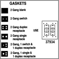 Morris Products 37934 2 Gang Gasket-1