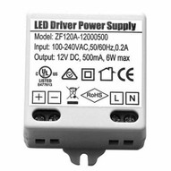 Morris Products 71244 12v Led Driverless Undercabinet Lighting Accessories Hard Wire Power Supply 12v .5a 6w-1