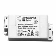 Morris Products 71245 12v Led Driverless Undercabinet Lighting Accessories Hard Wire Power Supply 12v .8a 10w-1