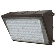 Morris Products 71445 Led Directed Optic Lens Wall Pack 48w 6595 Lumens 120-277v Bronze-1