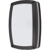 Morris Products 72152 Led Rectangular Bulkhead Lighting 4000k Full Lens Black Housing-1