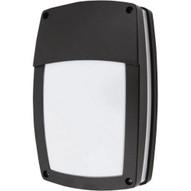 Morris Products 72155 Led Rectangular Bulkhead Lighting 3000k Half Lens Black Housing-1