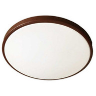 Morris Products 72223 Led 1 Band Decorative Ceiling Lighting 14'' Single Ring 22w 4000k Bronze-1