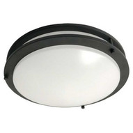 Morris Products 72225 Led 2 Band Decorative Ceiling Lighting 12'' Dual Ring 12w 3000k Bronze-1