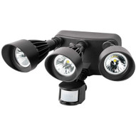 Morris Products 72564 Led Motion Activated Security Flood Lights 3 Head 36 Watts Bronze 3000k-1