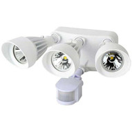 Morris Products 72565 Led Motion Activated Security Flood Lights 3 Head 36 Watts White 3000k-1