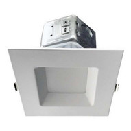 Morris Products 72647 Led Square Downlight - New Construction 4'' 10w 4000k Smooth Trim-1