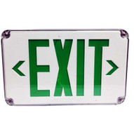 Morris Products 73453 Led Wet Location Exit Signs Green Legend-1
