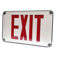 Morris Products 73454 Led Wet Location Exit Signs Red Legend Remote Capable-1