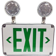Morris Products 73457 Led Wet Location Combo Exit Signs & Emergency Light Green Legend-1