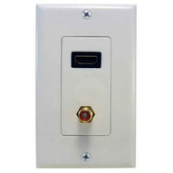 Morris Products 80446 Combination Hdmi & Rca Connector Home Enterainment Wallplate-1