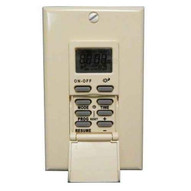 Morris Products 80516 7 Day In-wall Digital Self-adjusting Timer - Suntracker White-1