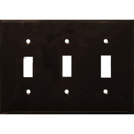 Morris Products 81032 Lexan Wall Plates 3 Gang Toggle Switch Brown-1