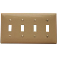 Morris Products 81040 Lexan Wall Plates 4 Gang Toggle Switch Ivory-1