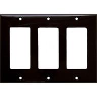 Morris Products 81132 Lexan Wall Plates 3 Gang Decorator gfci Brown-1