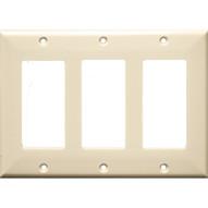 Morris Products 81133 Lexan Wall Plates 3 Gang Decorator gfci Almond-1