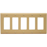 Morris Products 81150 Lexan Wall Plates 5 Gang Decorator gfci Ivory-1