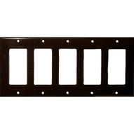 Morris Products 81152 Lexan Wall Plates 5 Gang Decorator gfci Brown-1