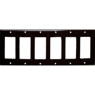 Morris Products 81162 Lexan Wall Plates 6 Gang Decorator gfci Brown-1