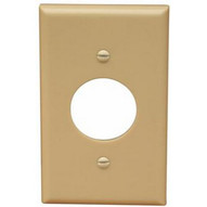 Morris Products 81610 Lexan Wall Plates 1 Gang Single Receptacle Ivory-1