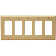 Morris Products 81780 Lexan Wall Plates 5 Gang Midsize Decorativegfci Ivory-1