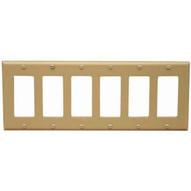 Morris Products 81785 Lexan Wall Plates 6 Gang Midsize Decorativegfci Ivory-1